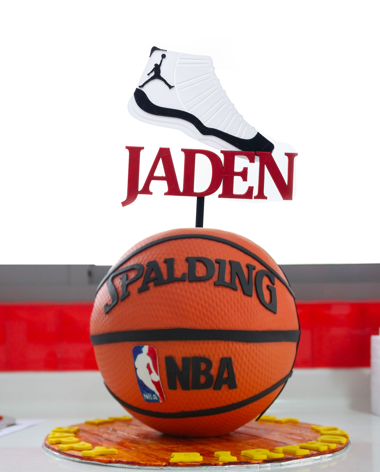 Air Jordan Shoe Personalized Cake Topper