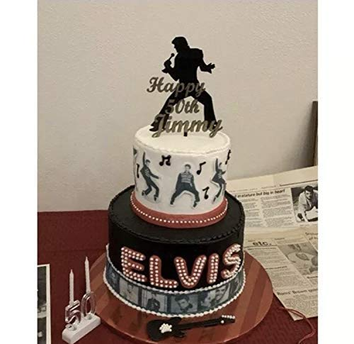 Remarkable Elvis Presley Personalized Birthday Cake Topper 3D Wade Creations Personalised Birthday Cards Petedlily Jamesorg